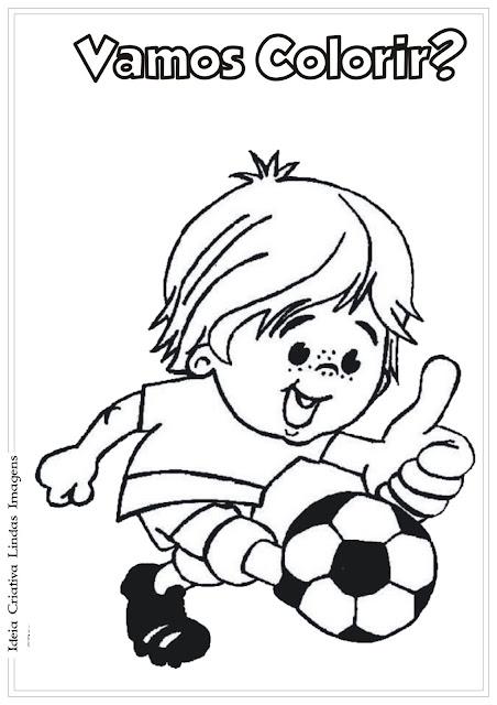 Desenho de criança brincando para colorir