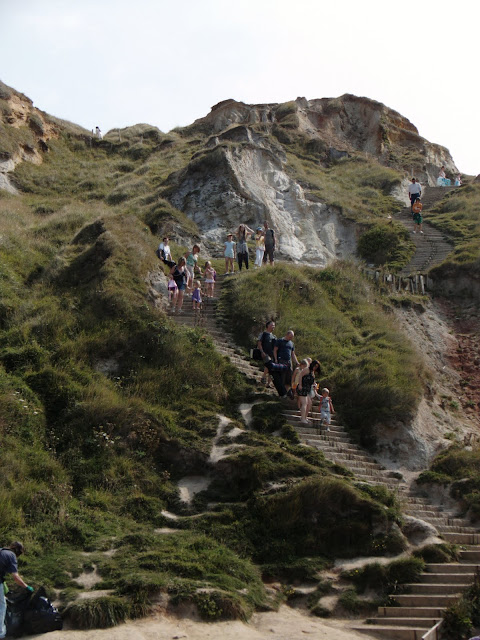 Cliff Steps down to Durdle Door
