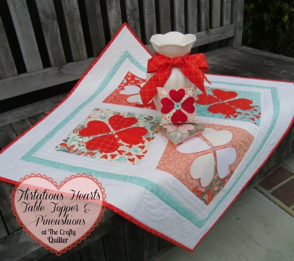 http://thecraftyquilter.com/2013/02/flirtatious-hearts-at-the-moda-bake-shop/