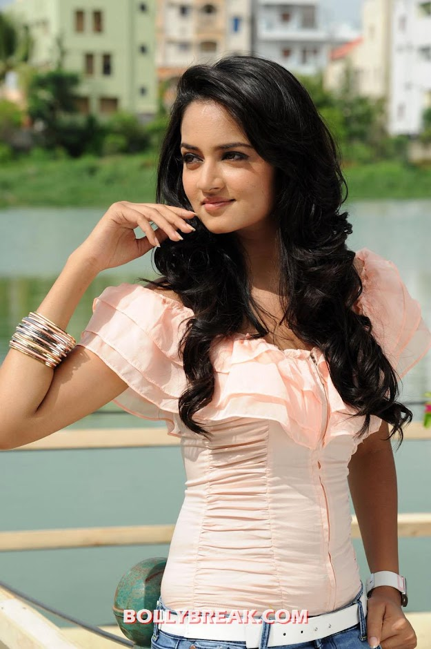 shanvi in light pink blouse - Shanvi photos from movie ADDA