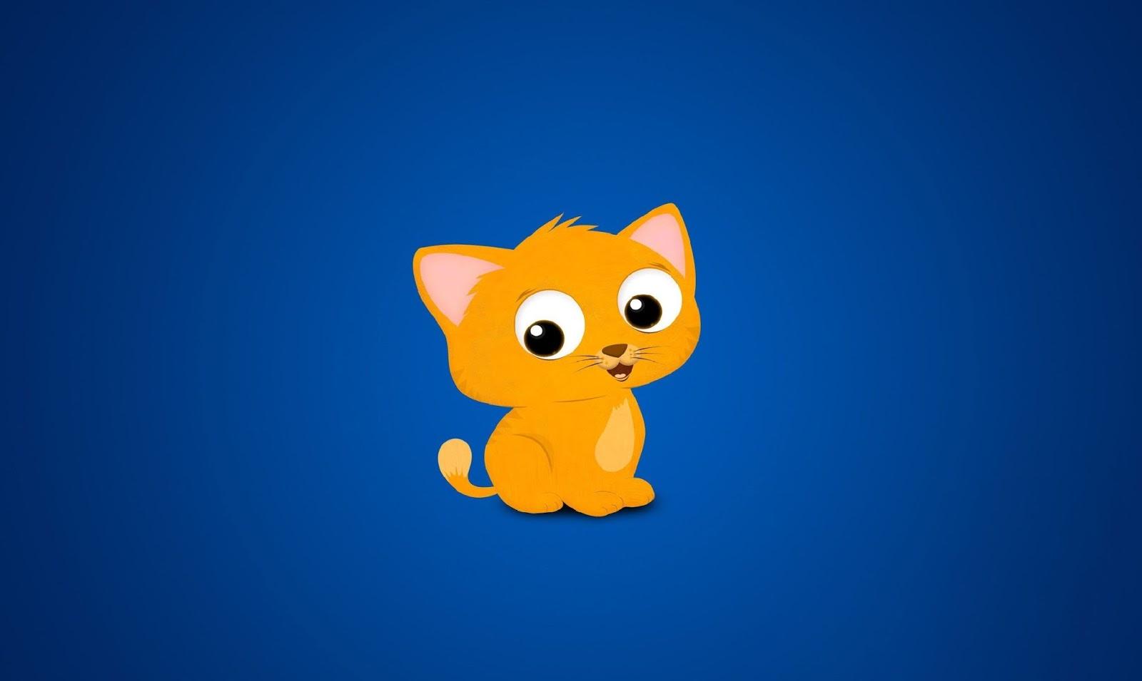 Gambar Kucing Imut Kartun godean.web.id