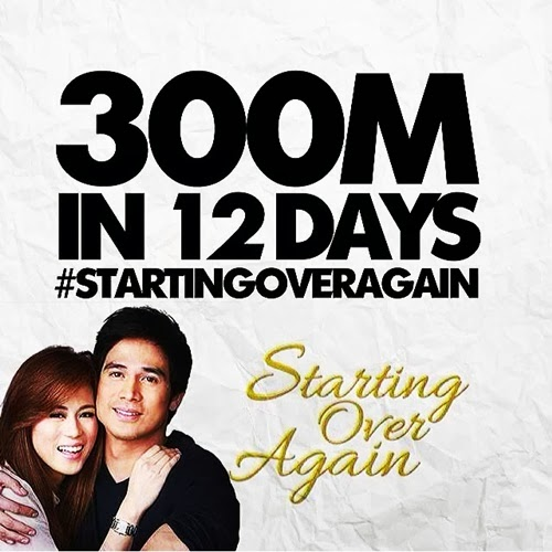 Starting Over Again gross P300 million at the box office in 12 days