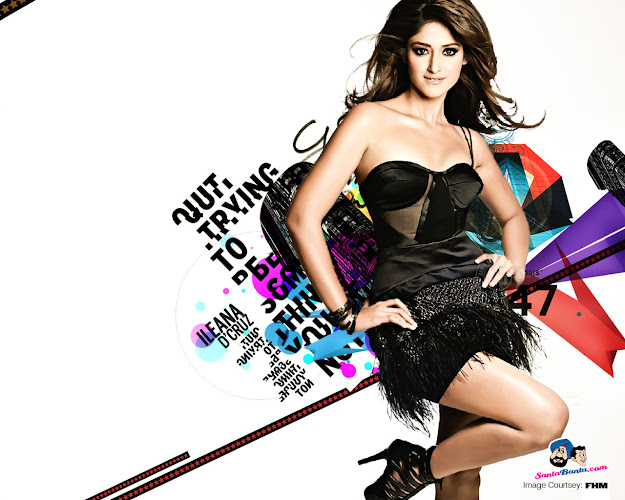 ILeana Black Dress Hot Wallpaper - ILeana Hot HD Wallpapers - Santabanta.com