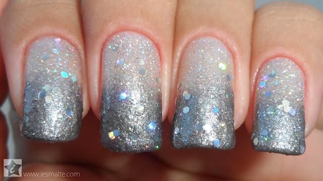 Especial Ano Novo - Unha Decorada Glitter Esponjado