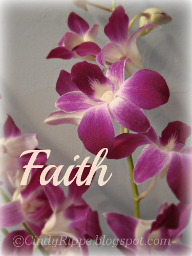 orchid flowers, Faith, Psalms 37:4, Designing new projects, Mary Jo Leisure, Florals-Family-Faith, Cindy Rippe