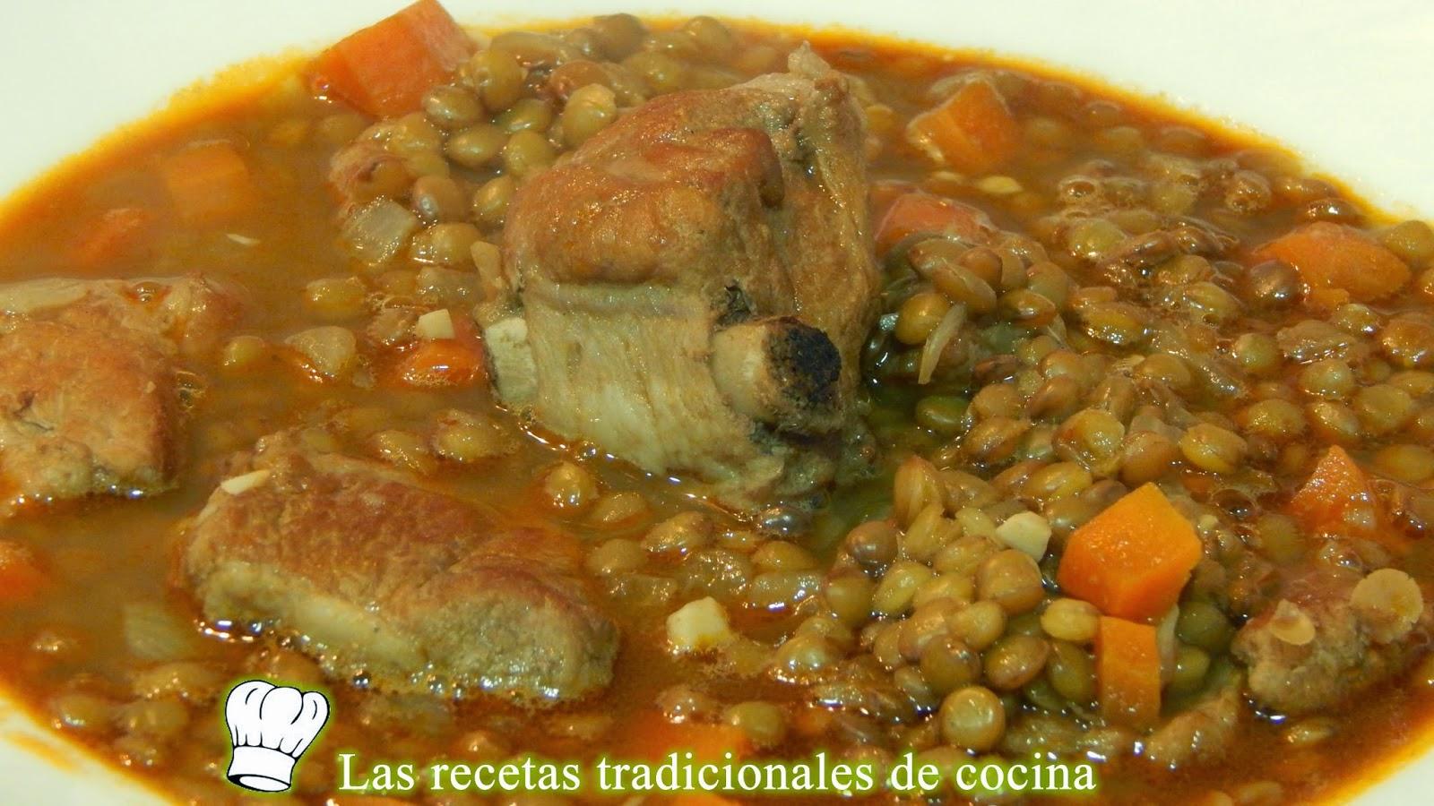 Como Se Cocinan Las Lentejas | Receta De Lentejas Con Costillas De Cerdo Recetas De Cocina Con