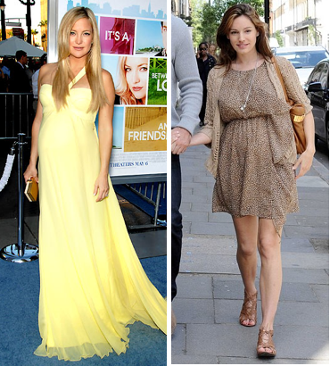 Fashion Style Pregnancy Style Selma Blair Kate Hudson And Kelly Brook