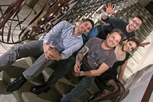 Eddy et Guillaume du Studio 54 avec Patrice Catanzaro et Charlotte Catanzaro.