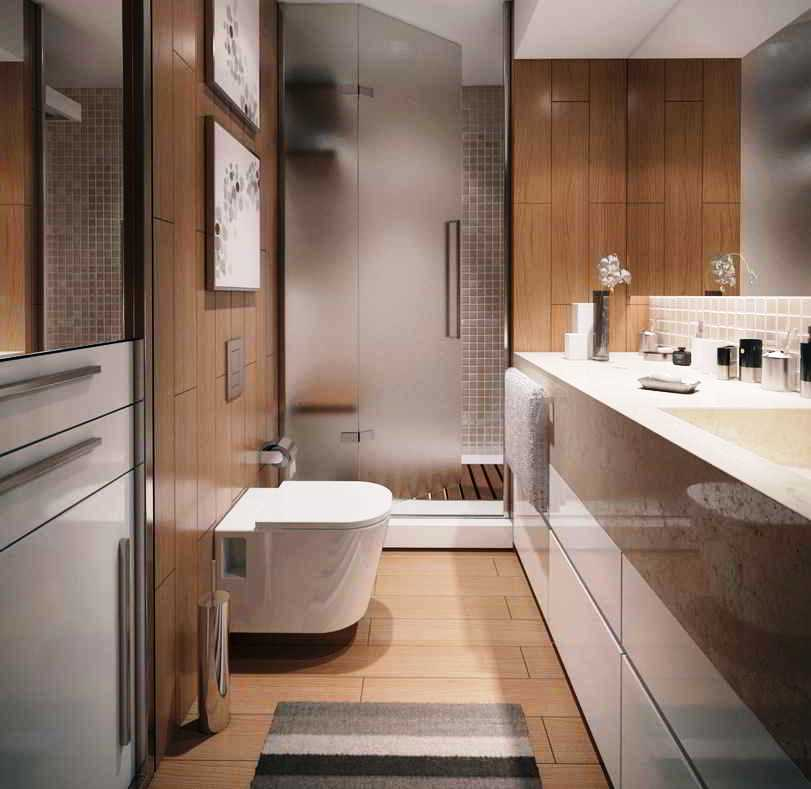 27 banheiros decorados grandes e pequenos confira for Small bathroom design apartment therapy
