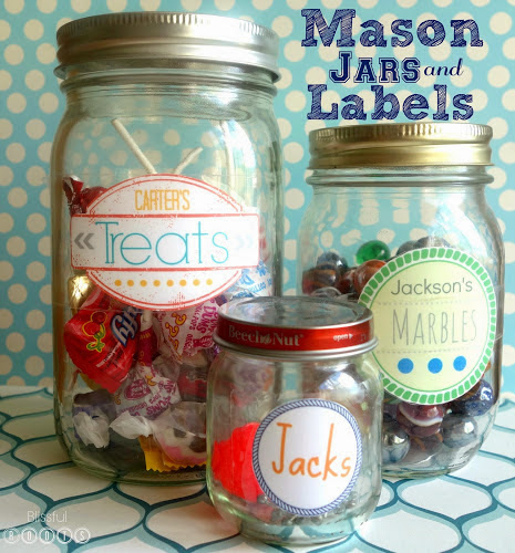 Sidewalk Chalk Box W/ Printable Label from Blissful Roots