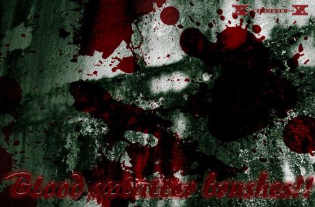Pinceles o brushes salpicadura de sangre