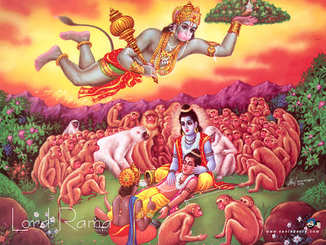 Hanuman Brings Chiranjeevi Mountain for Laxman Sickness