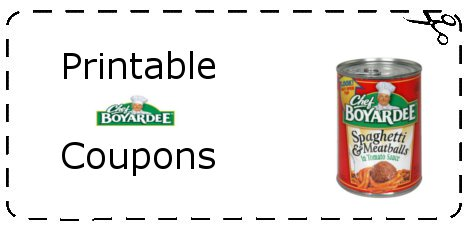 Chef Boyardee Coupons Printable