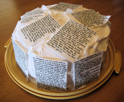 Classic Book Pages Cake 2