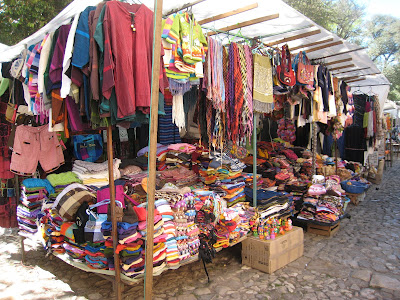 Market Stall Santo Domingo Mexico