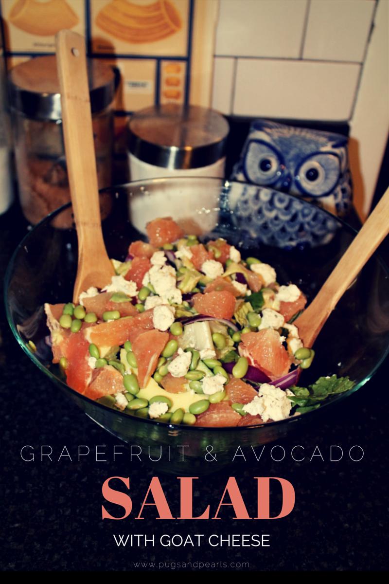 Pugs & Pearls: Grapefruit and Avocado Salad Recipe