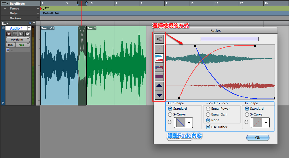 how to add fades in pro tools