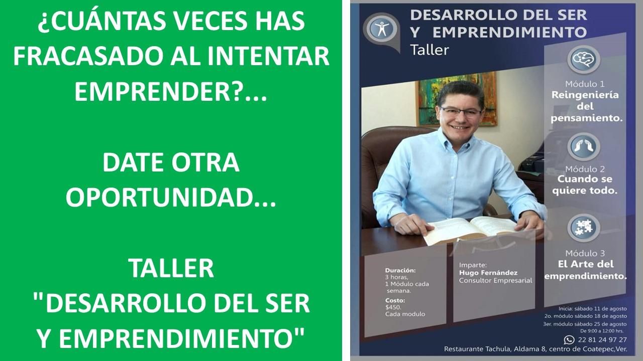 """.TALLER """"DESARROLLO DEL SER Y EMPRENDIMIENTO"""""""