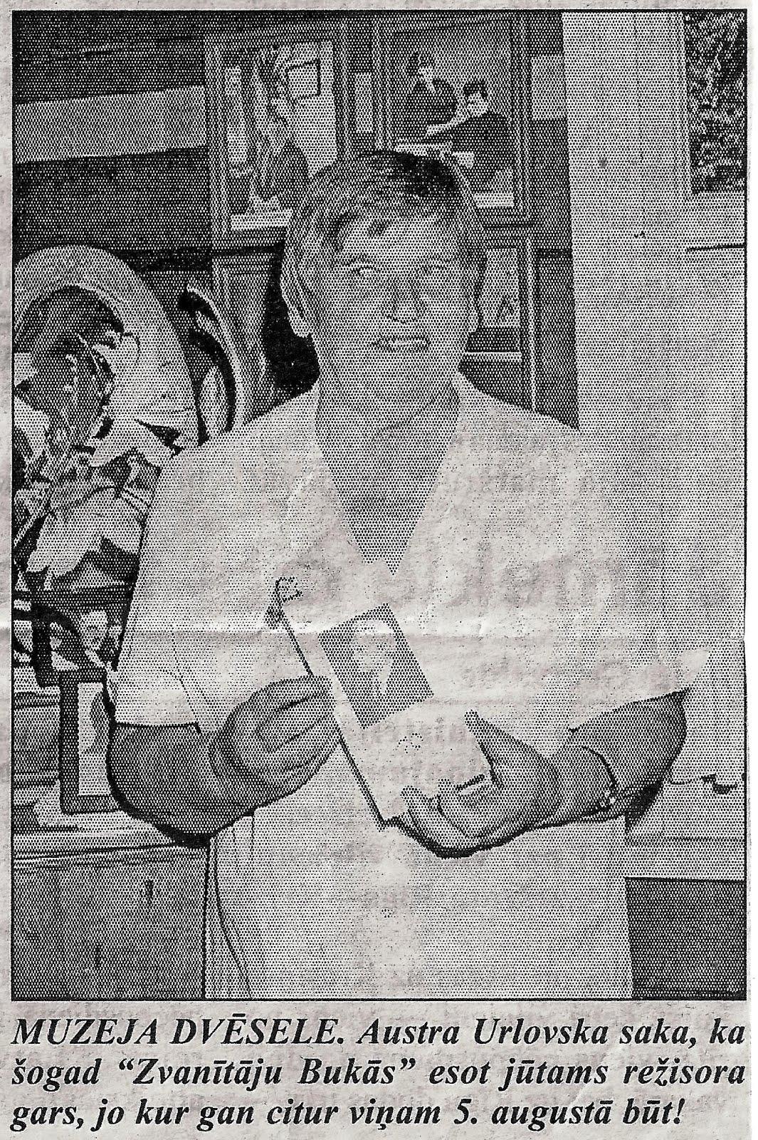 Muzeja vadītāj Austra Urlovska 2000. gada 5. augustā
