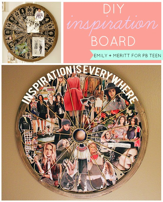 DIY Inspiration Board w/ Emily + Meritt for PBTeen Dart Board