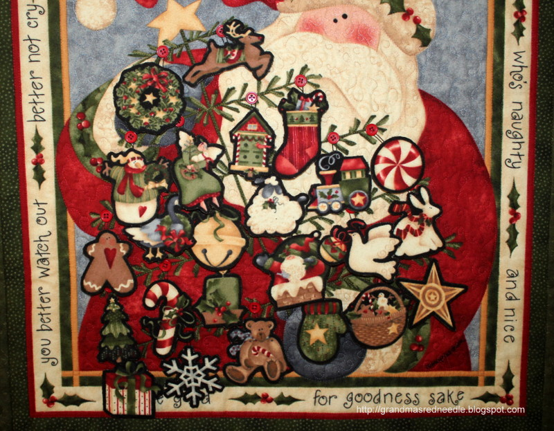 Red Needle Quilts Santa Claus Advent Calendar And Autumn