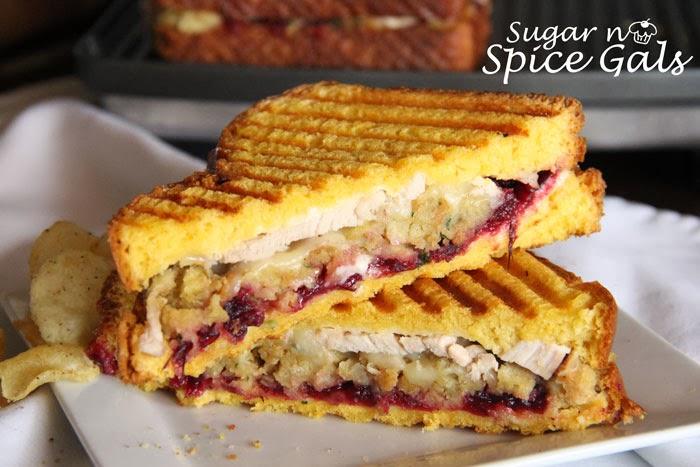 turkey cranberry & stuffing panini