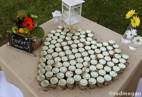 The Polaroid guest book And jars of seeds as favors The whole wedding