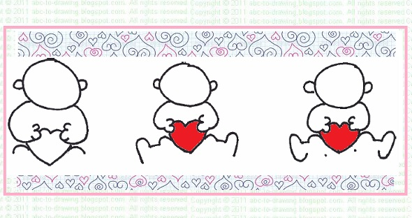 ABC To Drawing Valentine Card Idea How to draw a valentine baby card – How to Draw Valentine Cards