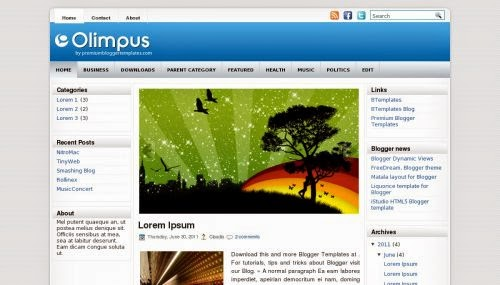 Olimpus - Free Blogger Template