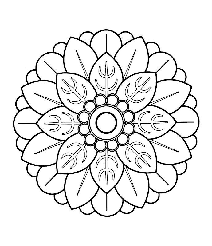Atractivo Páginas Detalladas Para Colorear Mandala Para Adultos ...