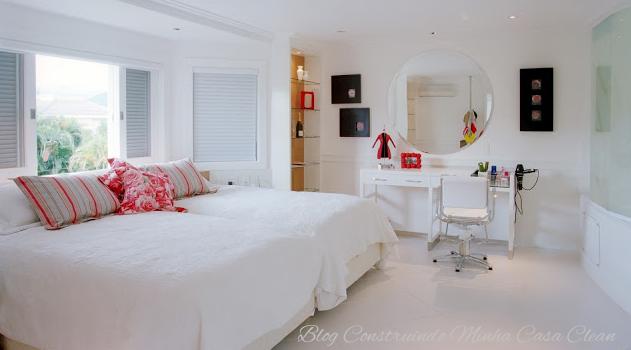 Construindo Minha Casa Clean Quartos Lindos com Home  ~ Quarto Casal Lilas E Branco