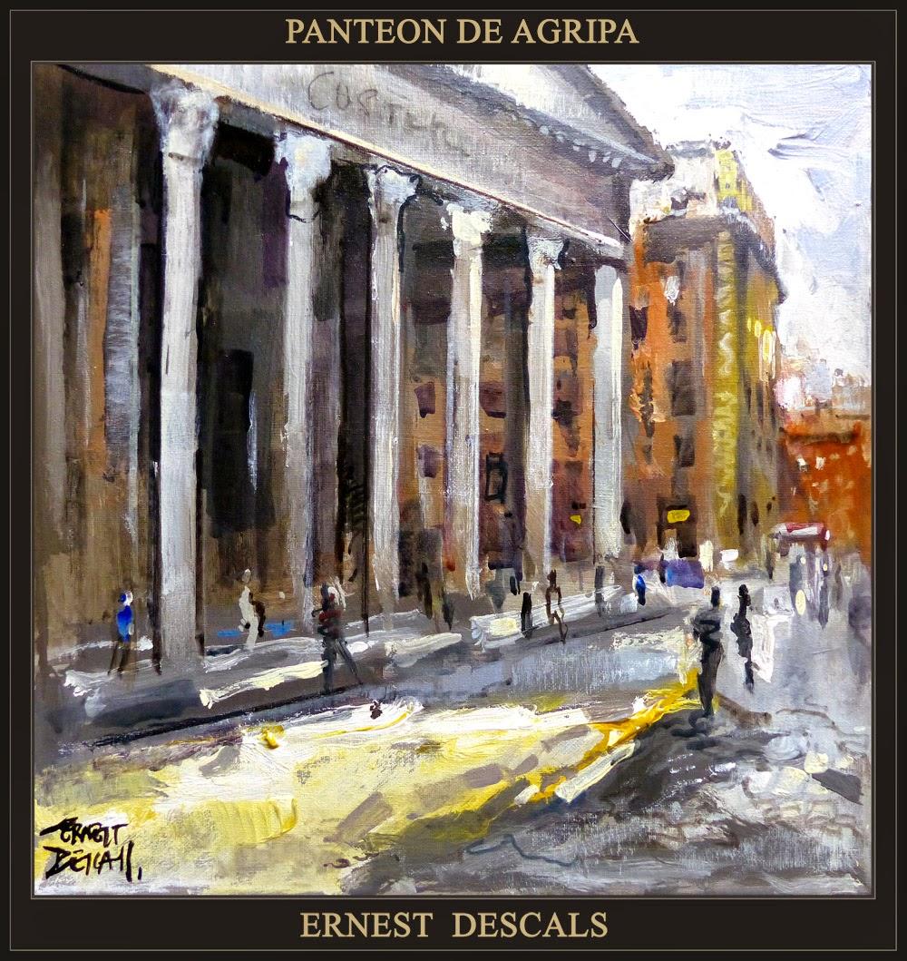 PANTEON-AGRIPA-ROMA-PINTURA-HISTORIA-IMPERIO ROMANO-PINTOR-ERNEST DESCALS-