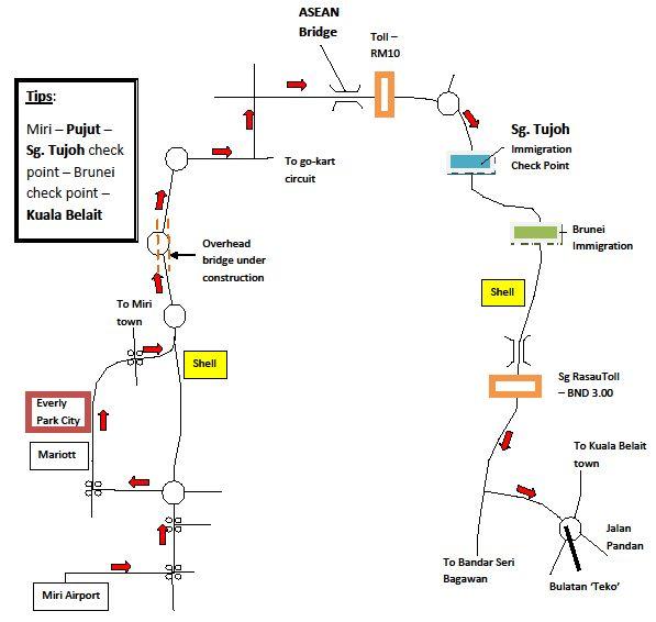 BolEhDude from BolEhLaNd Simplified Miri Kuala Belait map 2007