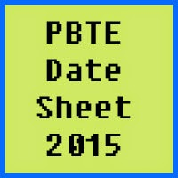 PBTE Lahore Date Sheet 2016