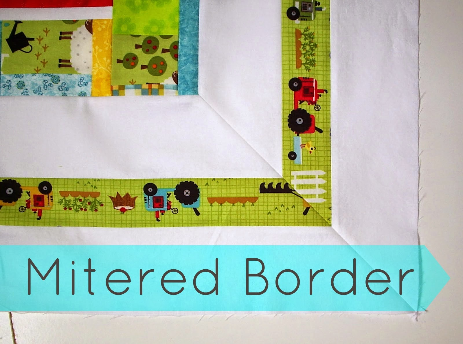Mitered Border tutorial