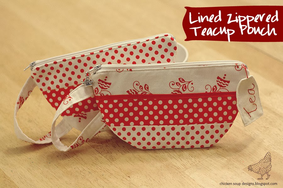 Chicken Soup Designs: Zippered Teacup Pouch