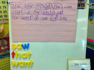 http://drclementskindergarten.blogspot.com/2013/11/sight-word-practice.html