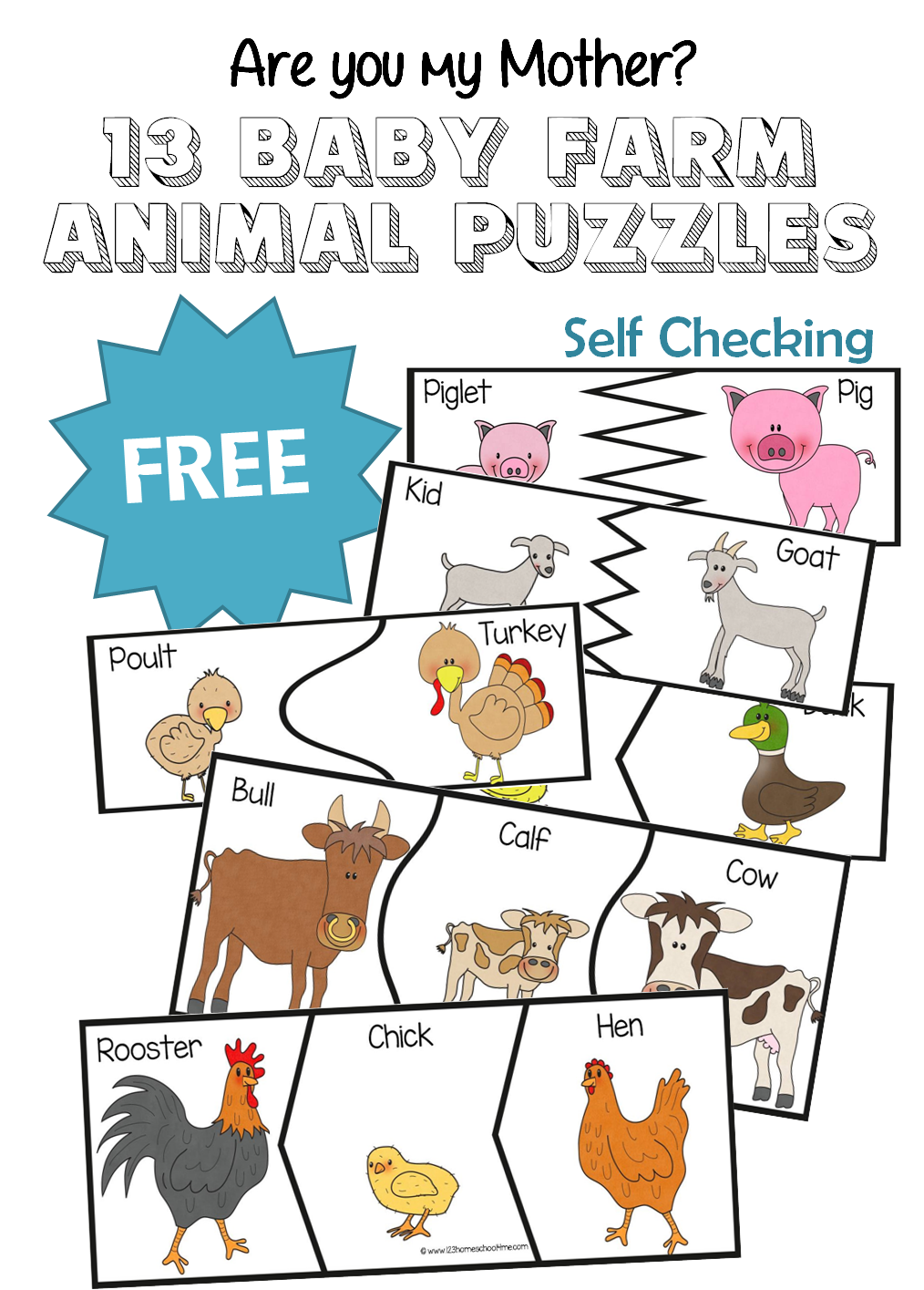 Uncategorized Preschool Puzzles Free are you my mother 13 baby farm animal puzzles free animals for toddler preschool