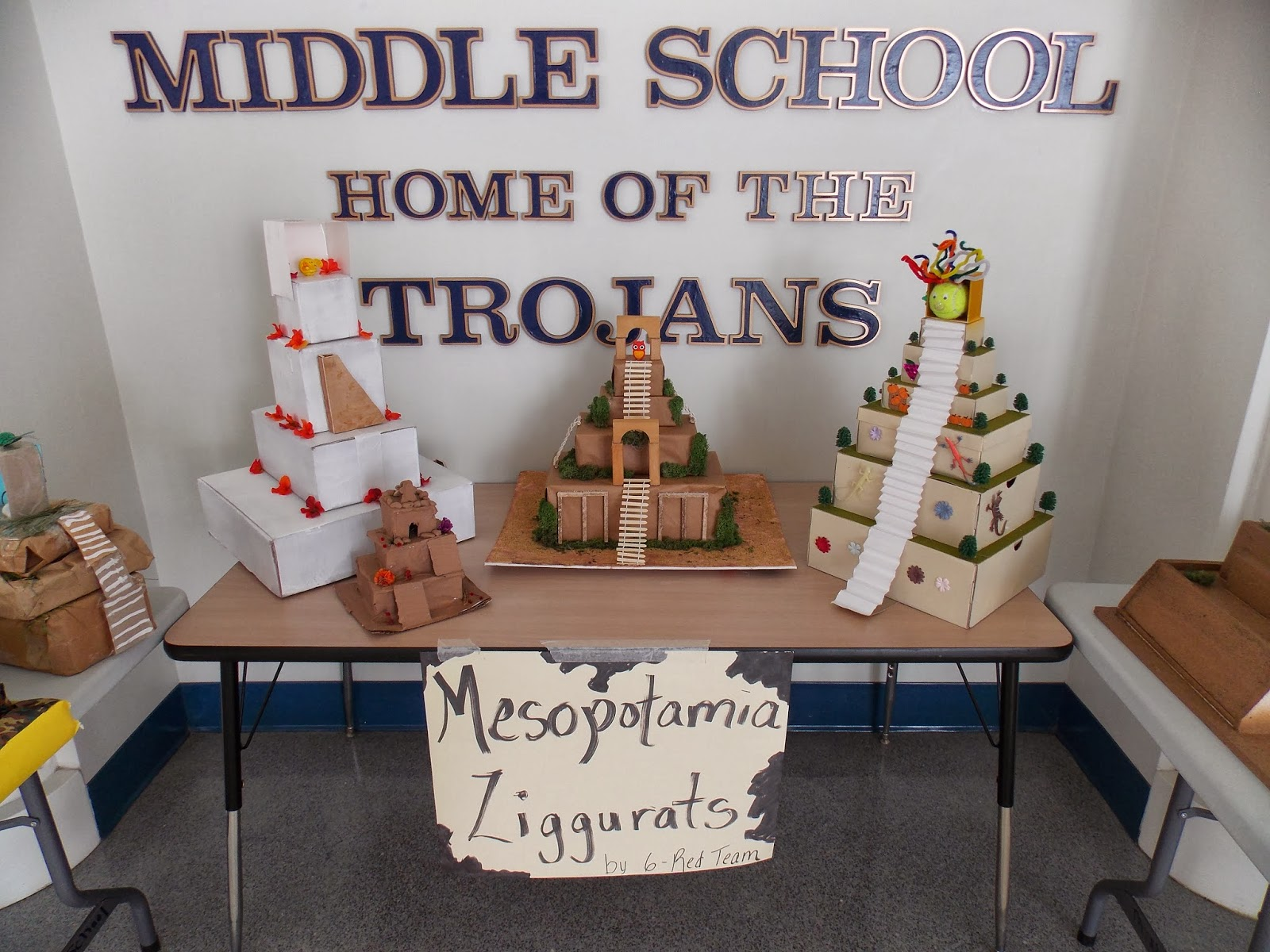 Ziggurats Of All Shapes Sizes And Materials Were Built Recent By Pottstown Middle School Students As Part A Unit On Ancient Mesopotamia