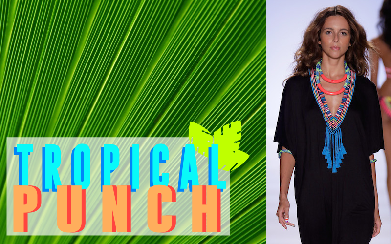 TROPICAL PUNCH PALM LEAF TREND SUMMER 2015 MARA HOFFMAN RUNWAY swim