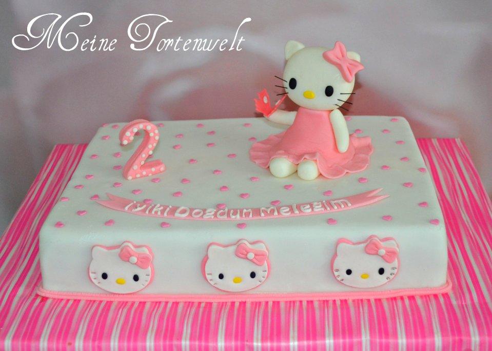 meine tortenwelt rosa hello kitty torte. Black Bedroom Furniture Sets. Home Design Ideas