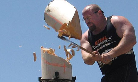 The World Lumberjack world Championships - Tough Competition