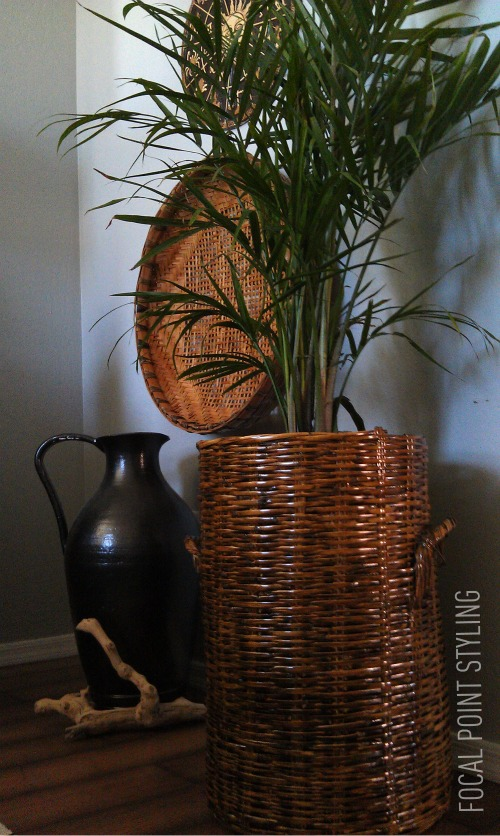 FOCAL POINT STYLING: DIY: HOW TO STAIN A WICKER BASKET
