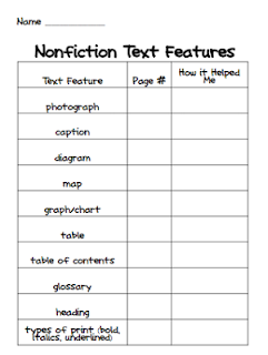 Text Features - Lessons - Tes Teach