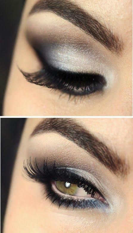 Silver Smoky Eyes Makeup Tutorial