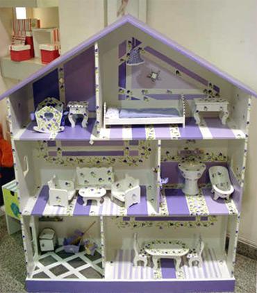 Casa de mu ecas espacio femenino - Como hacer muebles para casa de munecas ...