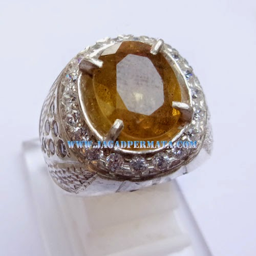 Batu Permata Safir Akik Sapphire Cincin Yellow Safhire