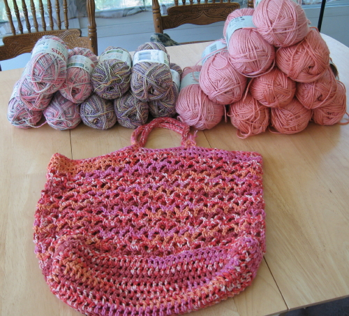 Easy Crochet Mesh Bag Pattern : Simple Knits: Green Grocer Bag to crochet