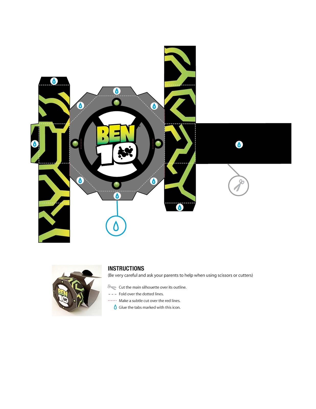 Excepcional Boneco 3D e Relógio pra Montar do Ben 10 | Ideia Criativa - Gi  QY37