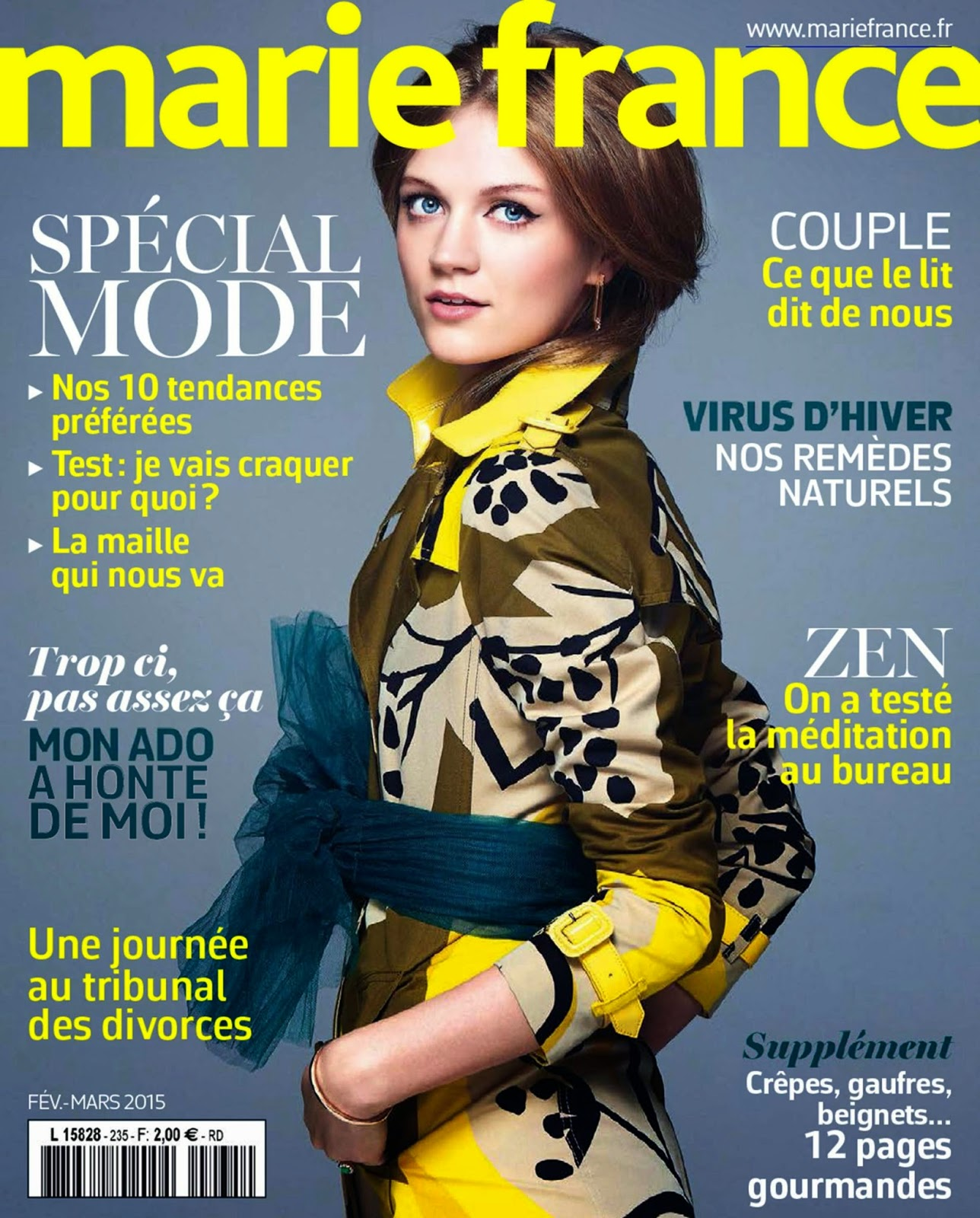Model: Spécial Mode for Marie France, France